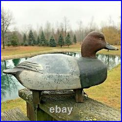 Vintage Hollow Drake Redhead 1940's By The (great Ben Schmidt)1884-1968 Mich