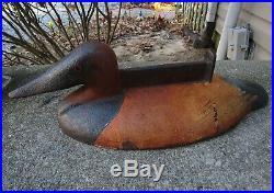 Vintage Htf John Wright Cast Iron Canvasback Sink Box Sty Duck Decoy Boot Scrape