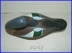 Vintage Jim Pierce Sleeping Duck Decoy Signed Real Nice Drcoy