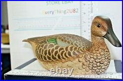 Vintage Ken Harris Duck Decoys Hand Painted With Glass Eyes