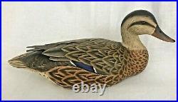 Vintage Ken Harris Signed Tom Ferguson Decorative Mallard Hen Duck Decoy 1983