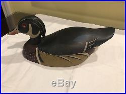 Vintage Ken Harris Wood Duck Wooden Decoy