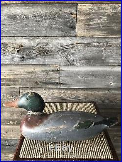 Vintage Mason Glass Eye Duck Decoy