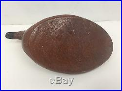Vintage Mid Century Abercrombie and Fitch Leather Duck Decoy Doorstop Decor