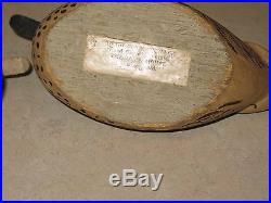 Vintage Miniature Oliver Lawson Wood Duck Decoy Pair -Duck House Rumbley, Md