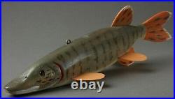 Vintage Minnesota Bill Green Fish Spearing Decoy Folk Art Fishing Lure