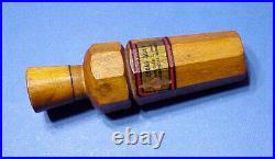 Vintage Oscar Quam 8 sided duck call Minneapolis MN duck calls and decoys
