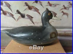 Vintage Otto Garren Canton Illinois early Coot Duck Decoy