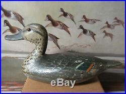 Vintage Otto Garren Canton Illinois early Pintail Hen as found Duck Decoy