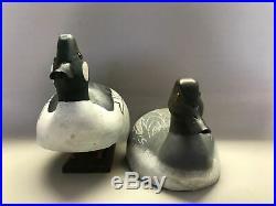 Vintage Pair of Goldeneye Duck Decoys, Torry Ward, Waterfowl, Hunting, Goose