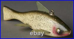Vintage Paw Paw Fish Spearing Decoy Lure Folk Art Fishing Lure