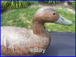 Vintage Pintail Hen Duck Decoy by Fresh Air Dick Janson Sonoma Creek, Ca 1920s