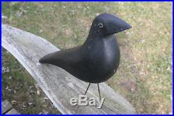 Vintage Pratt Factory wooden crow decoy mint