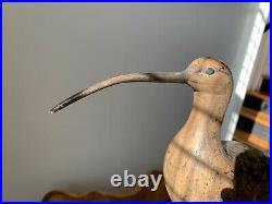 Vintage R. J. Bob Brown Carved Shorebird Decoy Barnegat NJ