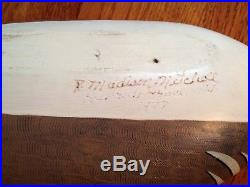 Vintage R. Madison Mitchell Decorative Decoy Wood Ducks Signed 1977