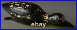 Vintage Rare David Perkins-dfd-loon Duck Folk Art Fish Spearing Decoy