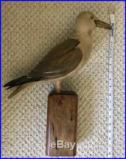 Vintage Rare Tom Taber Hersey Kyle Jr Carved Wood Seagull Decoy