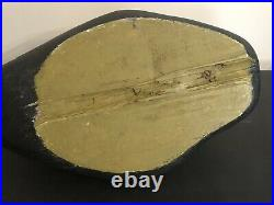 Vintage Solid Wood Carved Herbert Hidu Maine Eider Drake Duck Decoy