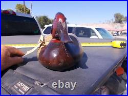 Vintage Tom Taber Hersey Kyle JR. DRAKE Canvasback 17 Carved WOOD DUCK DECOY