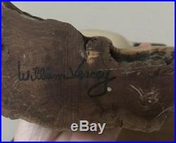 Vintage WILLIAM VEASEY Wood BIRD DUCK DECOY Pair Statues