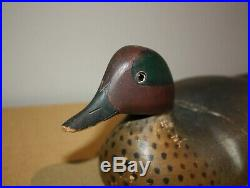 Vintage Wildfowler Green Wing Teal Duck Decoy Jewelry / Cigarette Box