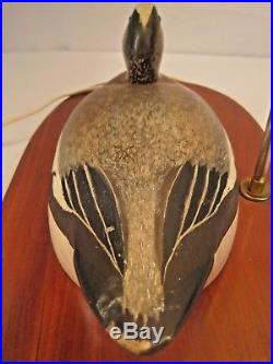 Vintage Wildfowler Wigeon Drake Duck Decoy Lamp Old Saybrook Conn. 1939-1957