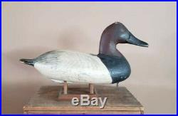 Vintage William Heverin canvasback decoy Chesapeake Bay Maryland c. 1930