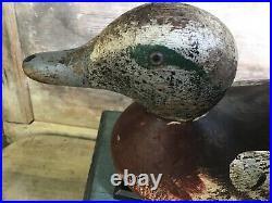 Vintage antique old wooden working Mason Standard Grade Widgeon duck decoy