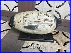Vintage antique old wooden working Upper Bay Canvasback duck decoy