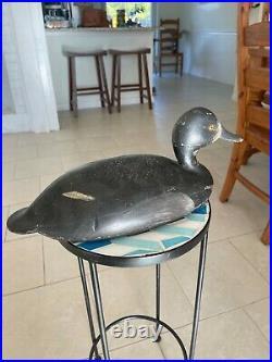 Vintage antique wooden duck decoys rare hollow blue bill hen John Schweikart