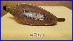 Vintage c 1915 Frank Adams Primitive Mallard Duck Decoy Paperweight