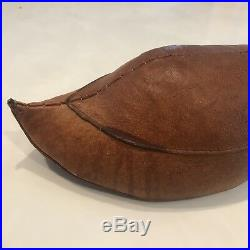 Vtg Abercrombie & Fitch Dimitri Omersa Leather Duck MCM Doorstop Decoy