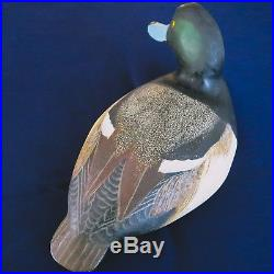 Ward Brothers Blue Bill Drake Duck Decoy Original Paint Shooting Stool Ward Bros