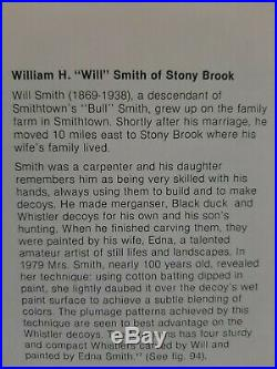 Whistler Decoys by William H. Smith of Stony Brook Long Island 1910-25