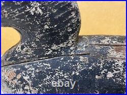 White Wing Scoter Duck Decoy Coast of Maine, Humpback, V-Shaped Body, c1940's