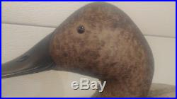 Wicks Duck Decoy. Hand carved'75. Wonderful example of a drake decoy not Purdue