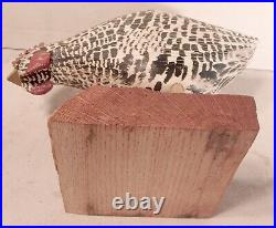 Will Kirkpatrick Vintage Hand Carved Plymouth Rock Rooster or Hen Signed WEK
