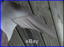 William Veasey Winged Black Duck Hen Decoy Wood Carving on Driftwood Delaware