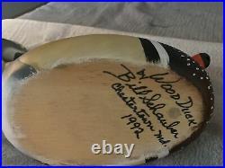 Wood Duck Decoy Pr Sgd Bill Schauber Chestertown MD 1992